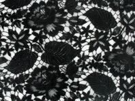 FLORAL ALL OVER CROCHET LACE Black
